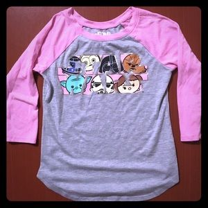[star wars] Girl's raglan T-shirt (Size 7/8)